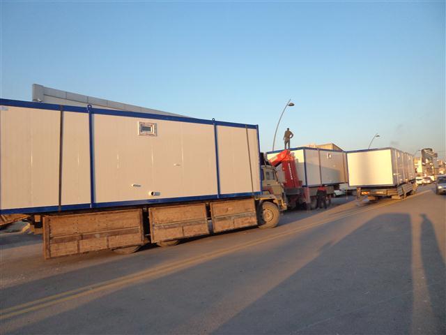 MUN YAPI  n�n konteynerlar� teslim edilmi�tir..